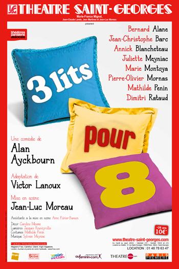 3 LITS POUR 8 AU THÉÂTRE SAINT-GEORGES