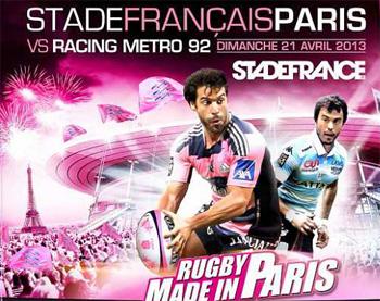 RUGBY : RACING METRO 92-STADE FRANÇAIS