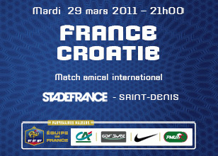 FRANCE CROATIE 29/03 STADE DE FRANCE