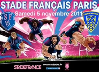 RUGBY: STADE FRANCAIS<br>ASM CLERMONT AU SDF